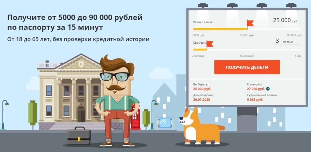 Главная страница сервиса С Петровичем